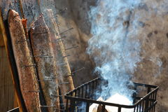 Salmões fumados Imagem de Stock