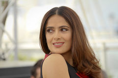 Salma Hayek. Attends the 'Il Racconto Dei Racconti' ('Tale of Tales') photocall during the 68th annual Cannes Film Festival on May 14, 2015 in Cannes, France Stock Photo