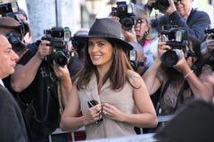 Salma Hayek. Attends Walk of Fame Ceremony Stock Photo