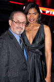 Salman Rushdie (L) and actress Pia Glenn Royalty Free Stock Photos