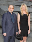 Salman Rushdie and Mary Ostrum Stock Photo