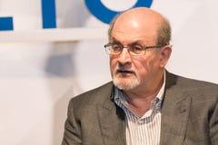 Salman Rushdie in obidos portugal stock photo