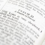 Salmo della bibbia santa. Immagini Stock