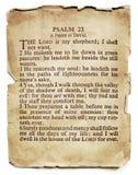 Salmo 23 en el papel viejo aislado Imagen de archivo libre de regalías