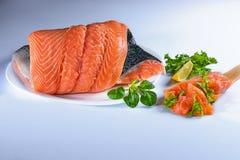 Salmom - деликатес рыб стоковое фото