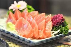 Salmom sashimi lub surowy łosoś obrazy royalty free