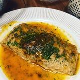 Salmon блюдо Стоковые Изображения