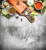 salmon еда рыб Стоковая Фотография