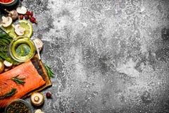 salmon еда рыб Стоковые Фото
