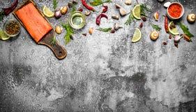 salmon еда рыб Стоковое Изображение