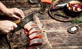Salmon еда стоковое изображение