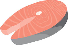 Salmon значок Стоковые Фото