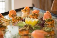 Salmon и копченая форель Стоковые Фото