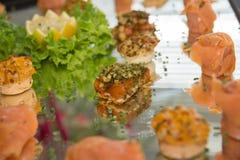 Salmon и копченая форель Стоковые Фотографии RF