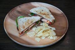 Salmon крупный план сандвича Стоковые Фото