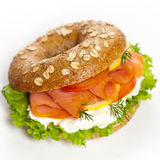 salmon курят сандвич, котор Стоковая Фотография RF