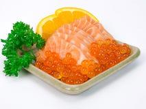 salmon куски и salmon яичка Стоковое фото RF