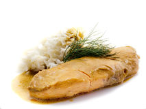 salmon ломтик Стоковая Фотография RF