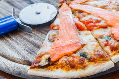 Salmon пицца Стоковое Фото