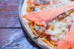 Salmon пицца Стоковое Изображение