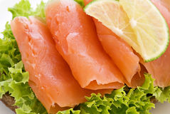 salmon сандвич стоковые изображения