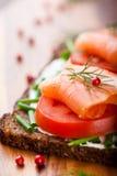 salmon сандвич Стоковая Фотография