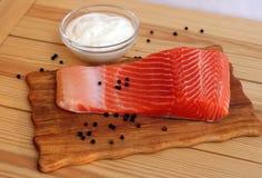 Salmon стейк с перцем Стоковые Фотографии RF