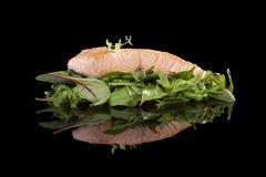 Salmon стейк. Стоковая Фотография RF