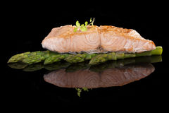 Salmon стейк. Стоковое фото RF