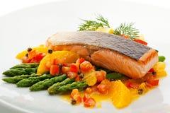 Salmon стейк Стоковое Изображение RF