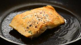 Salmon стейк видеоматериал