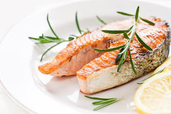 Salmon стейк Стоковая Фотография RF