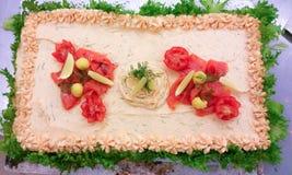 Salmon торт сандвича Стоковая Фотография