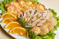 Salmon тэмпура, японская еда Стоковое Фото