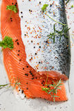 2 Salmon филе с травами Стоковая Фотография RF