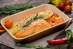 Salmon филе Стоковая Фотография RF