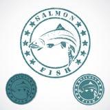 Salmon штемпель рыб Стоковые Изображения RF