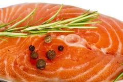 Salmon. Slice of salmon isolated on the white background Stock Photo