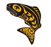 Salmon. Mythological image art style salmon Stock Photography