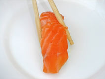 Salmon. Dry salmon with rice Stock Photography