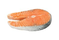Salmon. Isolated on white background Stock Image