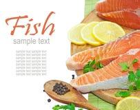 Salmon. On white background Royalty Free Stock Image