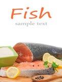 Salmon. Isolated on white background Stock Photos