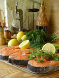 Salmon. Fresh fish Stock Photography