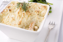 Salmon And Haddock Pie Stock Photo