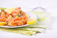 Salmon appetizer Stock Photo
