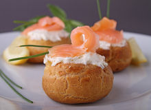 Salmon appetizer Royalty Free Stock Images