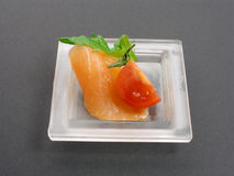 Salmon appetizer Stock Photos
