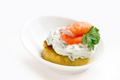 Salmon appetizer Royalty Free Stock Photography