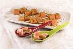 Salmon appetizer Stock Photo
